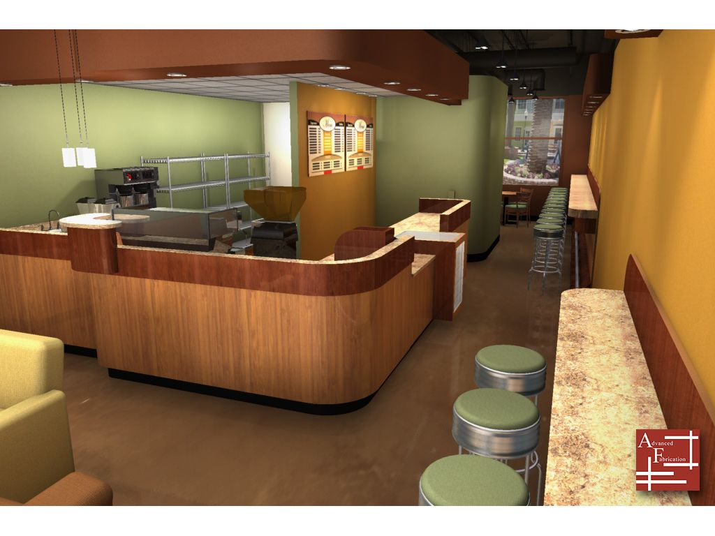 Reg wilson multimedia developer storefront design for Coffee shop kitchen designs